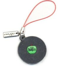 Officially Licensed Beatles Phone Charm with Apple label vinyl (rubber)