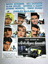 THE YELLOW ROLLS ROYCE Movie Poster SHIRLEY MACLAINE JEANNE MOREAU OMAR SHARIF