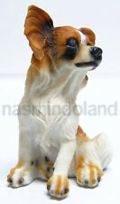 New Butterfly Squirrel Papillon Continental Toy Spaniel Dog resin Puppy Figure