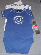 NFL NWT INFANT ONESIE-SET OF 2- INDIANAPOLIS COLTS 24M