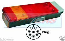 REAR LEFT HAND NEARSIDE TAIL LAMP LIGHT UNIT DAF CF XF WITH NUMBER PLATE LIGHT