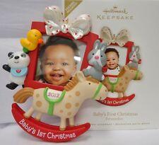 HALLMARK 2012  Babys First Christmas Photo Holder Ornament NIB FREE SHIP USA