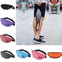 Running Hiking Sport Bum Bag Travel Money Phone Fanny Pack Waist Belt Zip New.