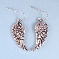 Vintage Antique Designer Inspired NEW Angel Wing Dangle Earrings Crystal USA