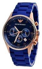 Emporio Armani AR5806 Blue Sportivo Chronograph Men's Wrist Watch