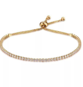 Gold Plated Cubic Zirconia Bracelet