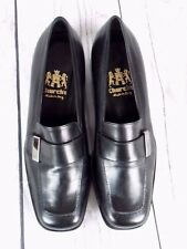 CHURCH'S BLACK LEATHER COURT SHOES - UK SIZE 3, EU 36. MADE IN ITALY