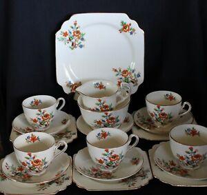 vintage Art Deco bone china tea set TF&S LTD England 19p Thomas Forester