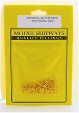Model Shipways Fittings MS 0956 Split Ring, Brass 15/64'' (6mm) 40/pack. NEW.