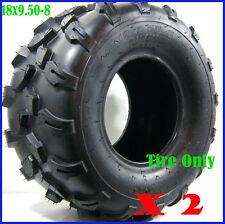 """2pcs 4PLY 18 X 9.50 - 8"""" inch Rear Chunky Tyre Tire Quad Dirt Bike ATV Buggy"""
