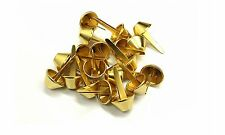 15mm Mushroom Split Brass Rivets Bifurcated Cone Head Buttons Leather 50 Pcs