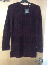 Atmosphere Size 12 Wine Ladies Knitted Long Sleeve Dress 5n