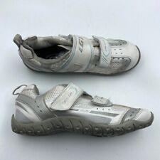 Louis Garneau Mens Ergo Grip Cycling Shoes White Hook & Loop 2 Bolt Mesh 7 EU 40