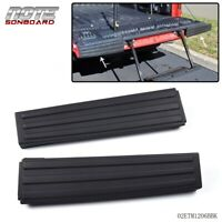 FOR 09-14 Ford F-150 Black Flex Step Side Tailgate Molding Covers Right & Left