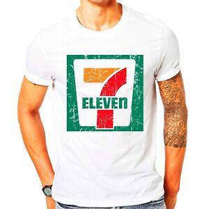 7 Eleven Logo Men's White Cotton T Shirt Seven 11 Men's White T-Shirt S-3XL