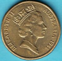 Australien  - Queen Elizabeth II - 1985 -1 Dollar Aluminium-Bronze Münze