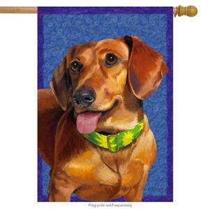 Dachshund Dog House Flag Puppy Canine Hot Dog