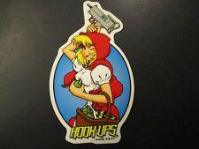 HOOK-UPS Logo Skate Sticker SAMURAI GIRL skateboards helmets decal hentai