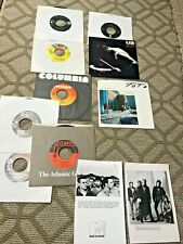 Classic Rock vinyl 45's AND RARE PUBLICITY PRESS PHOTOS including U2 Toto