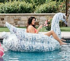 Mimosa Inc Billionaire Swan Inflatable Premium Quality Giant Size Pool Toy Float