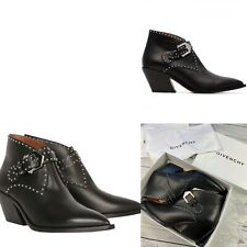 £950 Genuine Givenchy Ankle Boots, Givenchy Black Leather Studded Boots, 5,5 UK