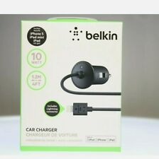 Belkin Lightning Bullet Car Charger 2.1A with 4 Foot Cable for iPhone, iPad
