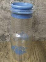 Vintage Pyrex 7014 Cornflower Blue Country Basket 1.5 Qt Pitcher Carafe