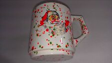 Santa Claus Mug 1981 Cup Speckled Coffee Christmas Celebration Artist Signed VTG