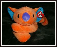Ty Pillow Pal Kolala Bear (Orange & Blue) Plush 1998 Nwmt