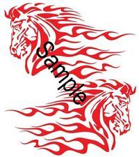 2pc Cavallo Infuocato-ADESIVO 55 CM x 32 CM Grafica Decalcomania TUTTI I COLORI-AF1_09