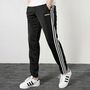 Adidas Men's Essentials 3-Stripes Tapered Tricot Sweatpants- Sz Large Black- New
