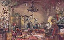 WARWICK CASTLE  - THE GREAT HALL -  W.W.QUARTREMAIN POSTCARD (840)