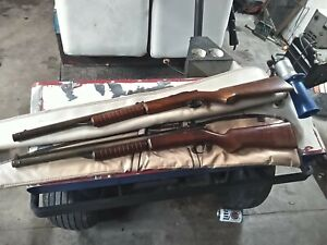 Vintage Benjamin Franklin Model 312 Air Rifle 22 Caliber Pellet Gun Works LOT