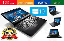 DELL LAPTOP LATiTUDE WINDOWS 10 CORE 2 DUO 4GB RAM WIN DVDRW WIFI PC HD COMPUTER