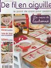 De fil en aiguille N°65 point croix Bureau Cuisine Linge Véronique Enginger
