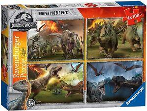 Ravensburger Jurassic World Park Dinosaurs Jigsaw Puzzle Bumper Pack 4 x 100pcs