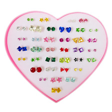 36 Pairs Heart Love Fashion Stud Earrings Set for Women Girl Kid Different Shape