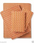 Threshold Burnt Orange Flannel Sheet Set