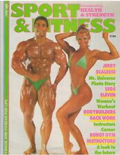 SPORT & FITNESS bodybuilding magazine JERRY SCALESSE with poster 6-88 (UK)