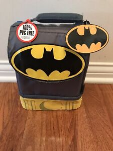 Batman Lunch Bag Box Kit Insulated Dual-Compartment Thermos Cape Super Hero