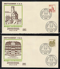 A-21) Germany 1982: Germany set with5 FDC - Castles and Palaces / Free Shipping