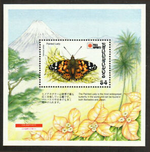 Barbados Stamp - Painted Lady butterfly Stamp - NH