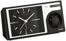 Seiko Japan Alarm Clock Analog Large Volume PYXIS RAIDEN Black NR443K