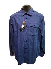 NEW - Under Armour, Blue Plaid Long Sleeve Button Up Shirt, Men's Medium, A100