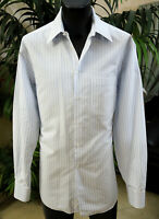 Giorgio Armani Shirt 16-36 Sharp Blue Stripes