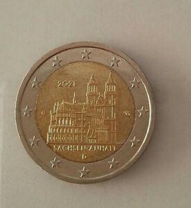 2 EURO GERMANIA 2021, CATTEDRALE  MAGDEBURGO - SACHSEN-ANHALT, zecca D circolata