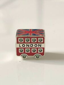Authentic S925 London Bus Charm, European Bead Sterling Silver
