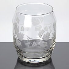 1 Becher Glas Weinbecher Glas 8 cm Vintage Saftglas Wasserglas Ätzdekor