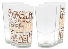 6er Set Latte Macchiato Glas 39cl stapelbar Kaffeegläser Kaffee Tee Glas Gläser