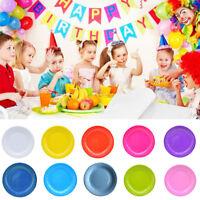 Cn _ Fm- 20pcs Platos de Papel, Redondos Desechable Boda Cumpleaños